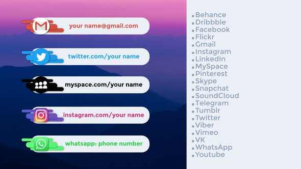 Social Networks Lower Thirds