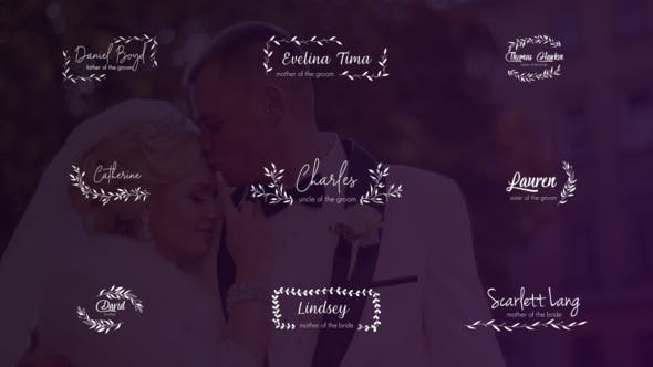 Thumbnail for Wedding Titles and Lower Thirds