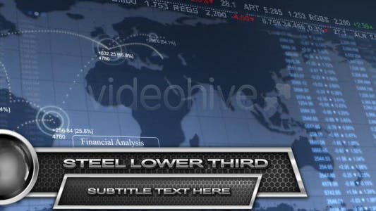 Thumbnail for Steel Lower Third HD
