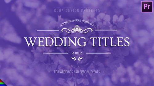 Floral Wedding Titles