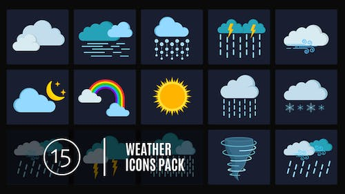 15 Weather Icons Pack