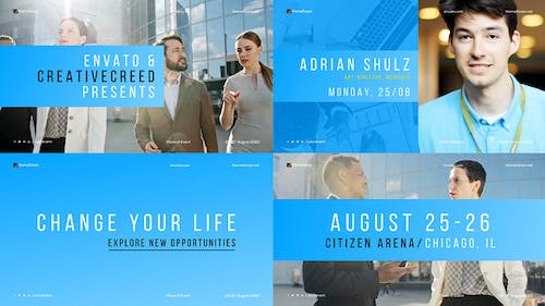 Minimal Conference Promo / Corporate Event / Meetup Opener / Business Coaching / Speakers