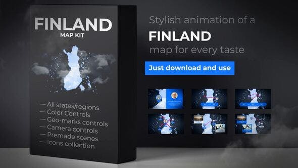 Thumbnail for Finland Map - Republic of Finland Map Kit