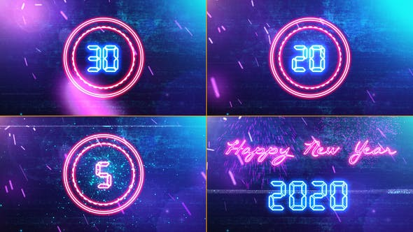 Thumbnail for New Year Countdown 2020 Neon V1