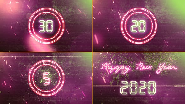 Thumbnail for New Year Countdown 2020 Neon V3