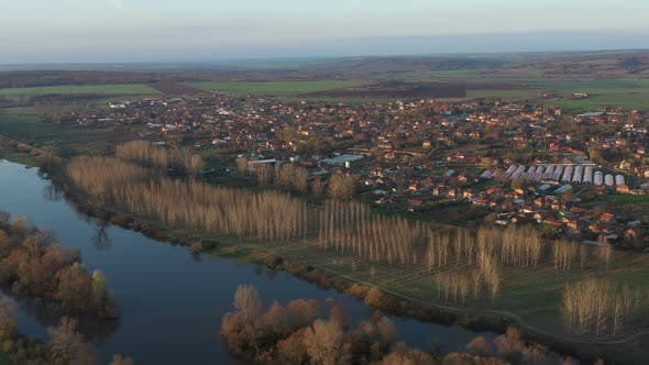 Flight Over The Village Of Brod In Bulgaria