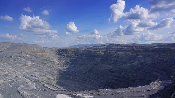 Gravel Production in Quarry, Timelapse,