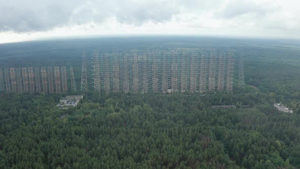 Thumbnail for Drone Flight Over Chernobyl Zone with Duga Aside