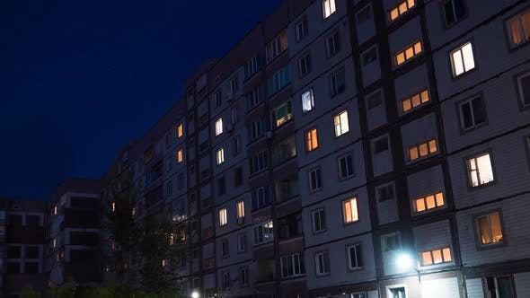 Thumbnail for Multistorey Building with Changing Window Lighting At Night