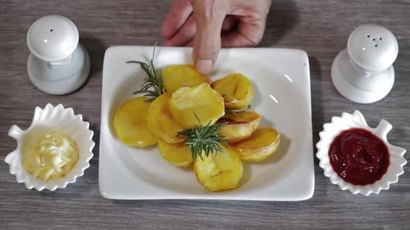 Thumbnail for French Fries, Mayonnaise and Ketchup