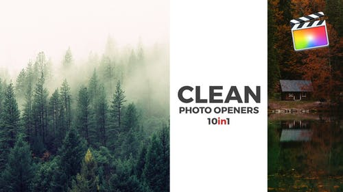 Clean Photo Openers - Logo Reveal