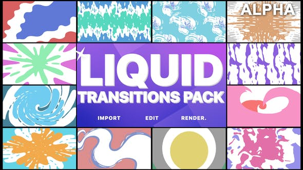 Thumbnail for Liquid Transitions Pack | Motion Graphics Pack