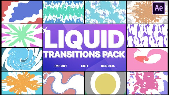 Thumbnail for Liquid Transitions Pack | After Effects