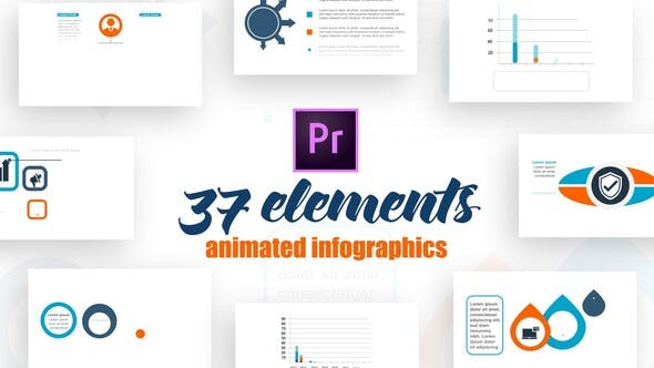 Thumbnail for Infographics Elements For Premire Pro