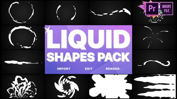 Thumbnail for Liquid Shapes Pack | Premiere Pro MOGRT
