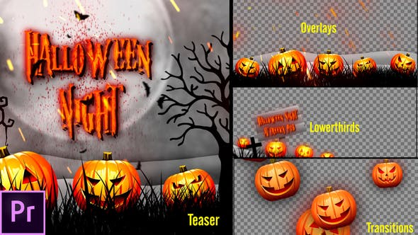 Thumbnail for Halloween Teaser Promo Pack - Premiere Pro
