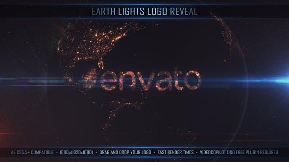 Thumbnail for Logo Earth Lights Reveal