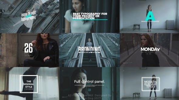Thumbnail for Stylish Titles | Premiere Pro