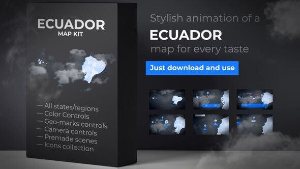 Thumbnail for Ecuador Map - Republic of Ecuador Map Kit