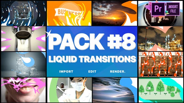Thumbnail for Liquid Transitions Pack 08 | Premiere Pro MOGRT