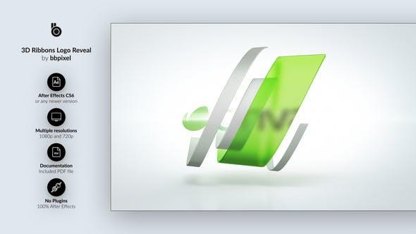 Thumbnail for 3D Ribbons Logo Reveal