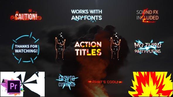 Thumbnail for Action Titles Pack | Premiere Pro MoGRT