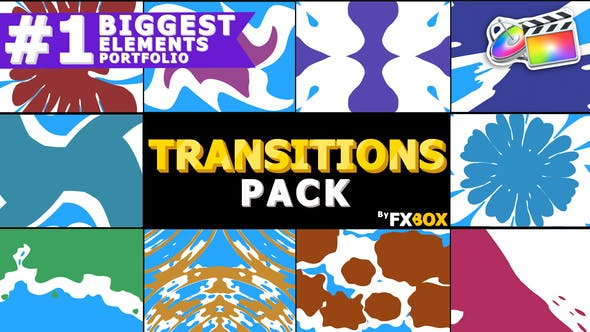 Thumbnail for Liquid Transitions Pack | FCPX