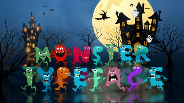 Monster Typeface   After Effects Template