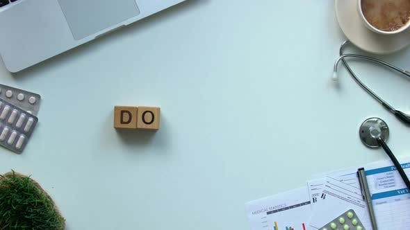 Thumbnail for Doctor Word Made of Wooden Cubes Top View, High Quality Medical Care Services