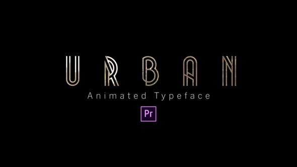 Thumbnail for Urban - Animated Typeface
