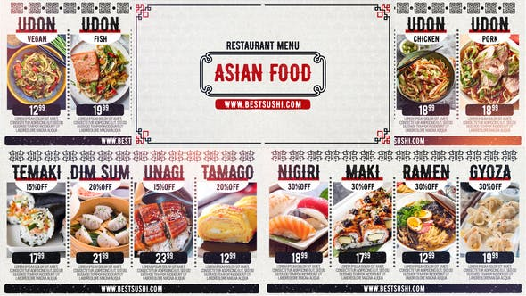 Thumbnail for Asian Restaurant Menu