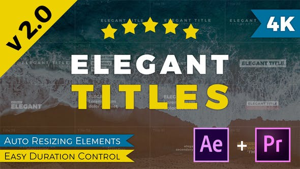 Thumbnail for Titres élégants After Effects