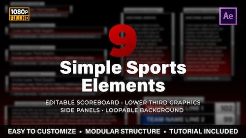 Simple Sports Elements Kit