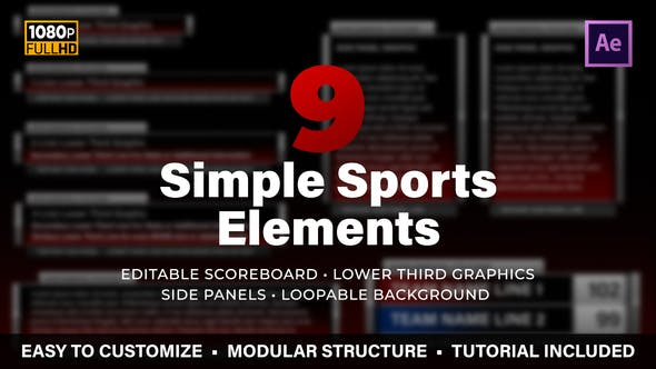 Thumbnail for Simple Sports Elements Kit