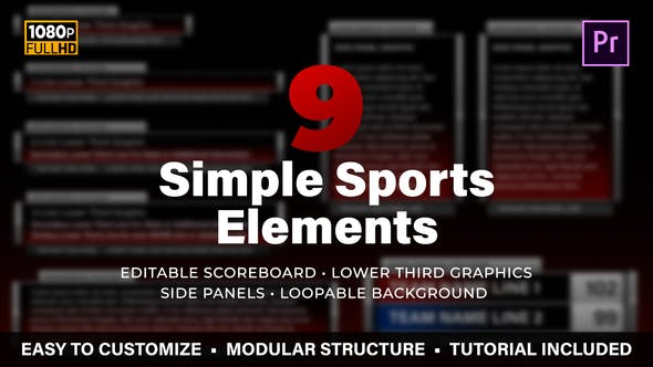 Thumbnail for Simple Sports Elements Kit | MOGRT for Premiere Pro
