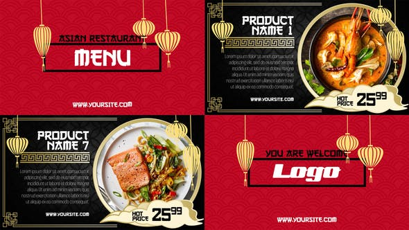 Thumbnail for Asian Menu - Restaurant Promo