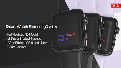 Smart Watch Modelo 3D Mockup - Aplicación Promo