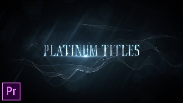 Thumbnail for Platinum Luxury Titles - Premiere Pro