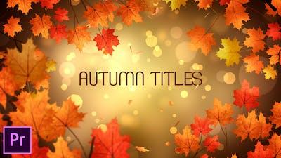Autumn Titles - Premiere Pro