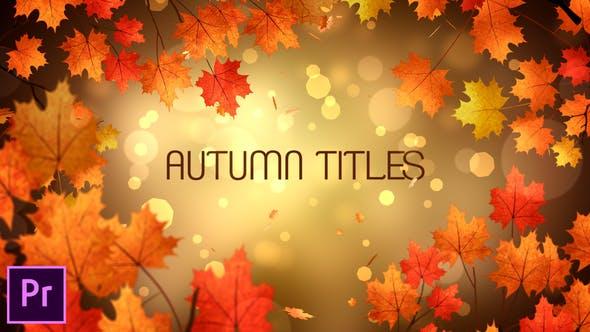 Thumbnail for Autumn Titles - Premiere Pro