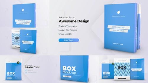 Box Product Pack Mockup - Plantilla de cubierta de Mock-up software de caja