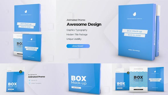 Thumbnail for Box Product Pack Mockup - Plantilla de cubierta de Mock-up software de caja