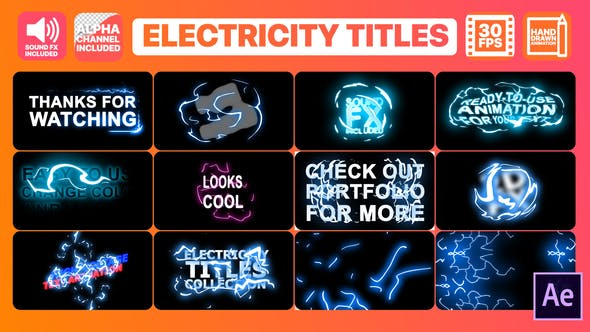 Thumbnail for Electricity Titles Collection | After Effects