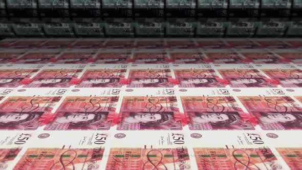 Thumbnail for Money Printing Pound Sterling Banknotes