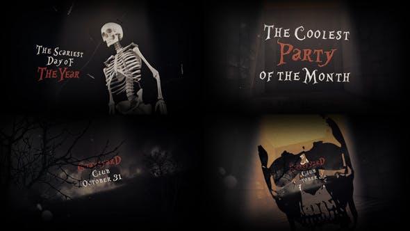 Thumbnail for Invitation à la fête des vœux d'Halloween