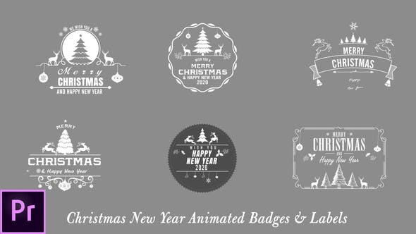Thumbnail for Christmas New Year Badges - Premiere Pro