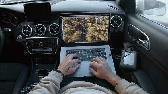 Freelance Photographer Works Remotely From Car