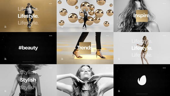 Thumbnail for Short Fashion Stomp / Fast Clean Opener / Dynamic Typography / Youtube Channel