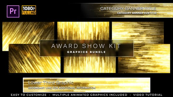 Thumbnail for Awards Show Kit | MOGRT for Premiere Pro