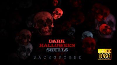 Dark Halloween Skulls